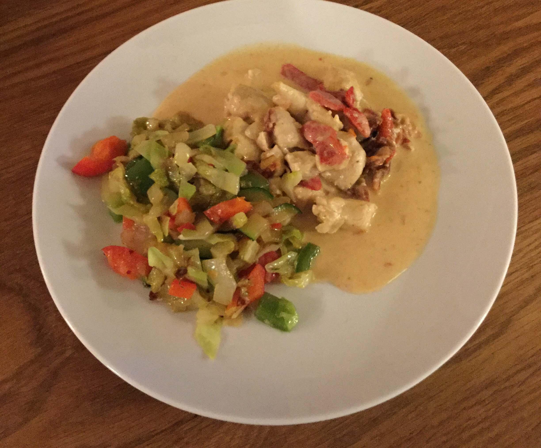 Härlig kyckling med grönsaker